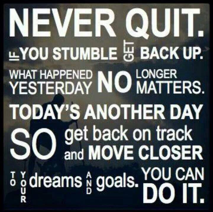 Never Quit verse
