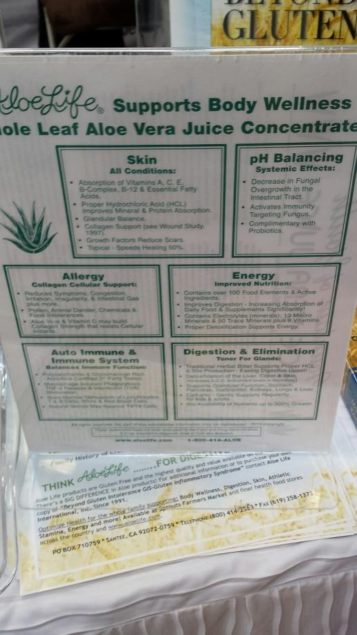 Aloe Life Info Sheet