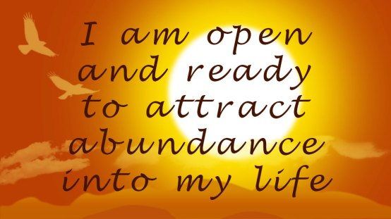 open ready to attract abundace