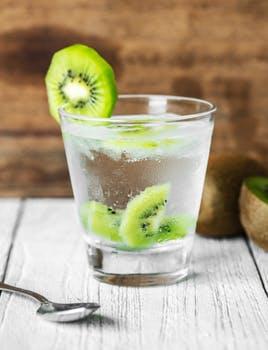 water with kiwi