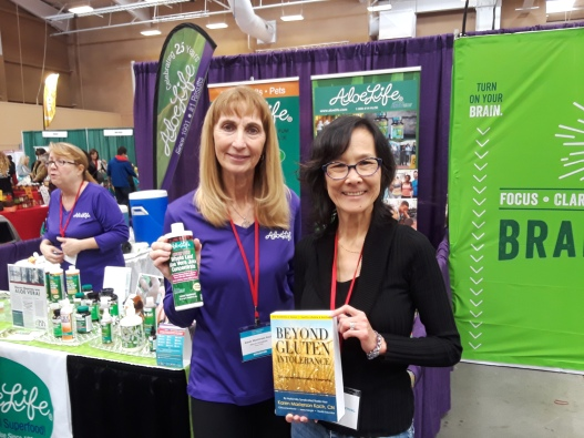 Nourished Festival Aloe Life founder and me 2019