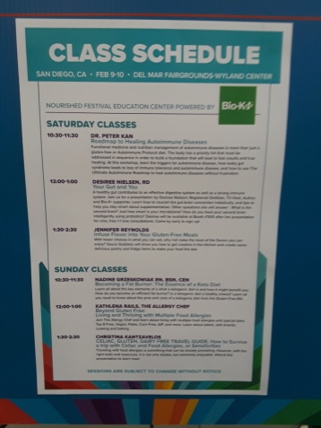 Nourished Festival Class Schedule