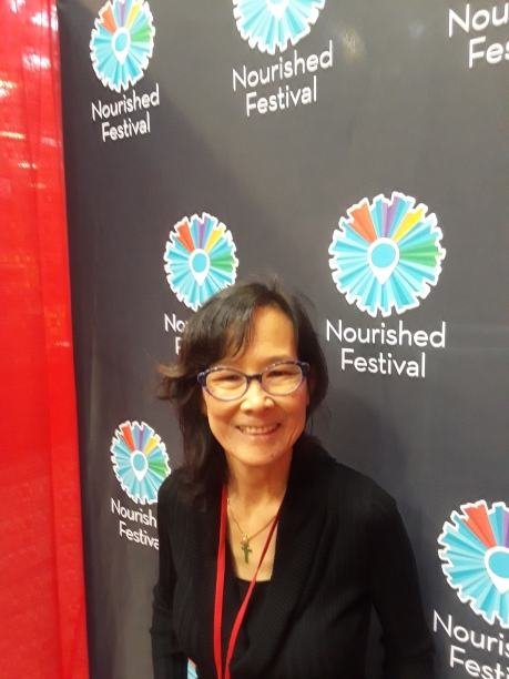 Nourished Festival me in blogger booth 2019